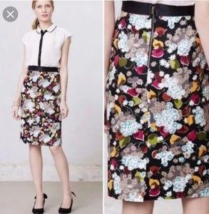 Anthropologie Girls From Savoy 8 Linen Skirt